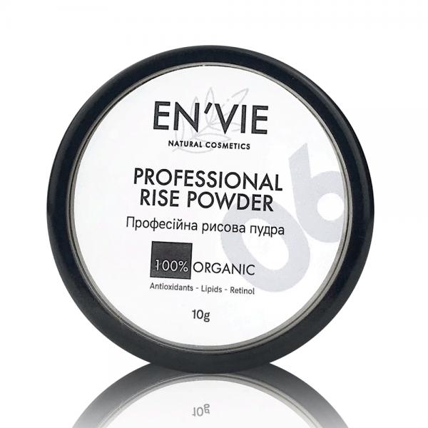 Купить рисовую пудру прозрачную рассыпчатую матирующую натуральную органическую в Киеве и Украине от Envie Cosmetic