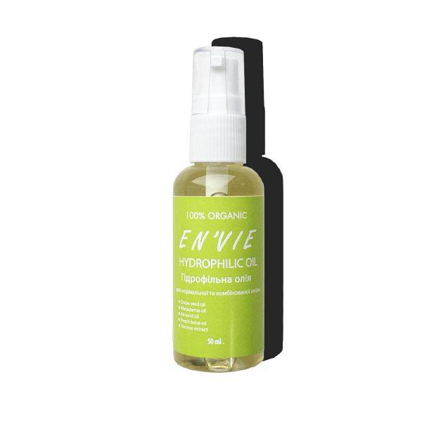 Купить Гидрофильное масло для снятия макияжа в Украине. Средство для снятия макияжа, масло для снятия макияжа Гидрофильное масло для нормальной и комбинированной кожи от бренда Envie Cosmetic (титул)